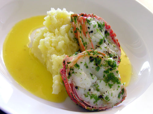 how to cook frozen lobster tails on the stove